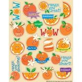 Eureka, Orange Scented Stickers, 1 x 1 Inch, Multi-Colored, Pack of 80