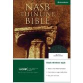NASB Thinline Bible, Bonded Leather, Black