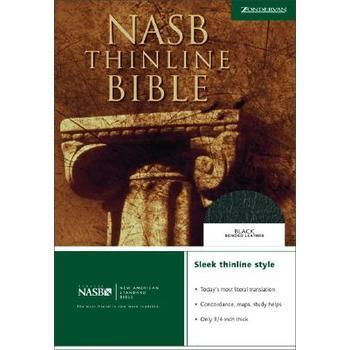 NASB Thinline Bible, Bonded Leather, Black