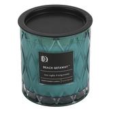 Darsee & David's, Beach Getaway Diamond Patterned Jar Candle, Aqua, 10 ounces
