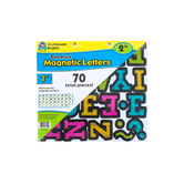 Teacher Created Resources, Chalkboard Brights Bold Block 2 Inch Magnetic Letters, 70 Pieces