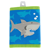 Stephen Joseph, Shark Tri-Fold Wallet, Ages 3 to 6 Years Old, 7 x 4 1/2 inches