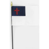 Annin Flagmakers, Christian Flag with Rod, 4 x 6 Inches, Multi-Colored, 2 Pieces