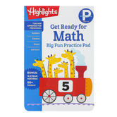 Highlights, Preschool Big Fun Practice Pad Get Ready for Math, Paperback, 192 Pages, Grade PreK