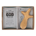 Dicksons, Man of God Palm Cross, Pine Wood, Brown, 4 3/4 x 3 inches