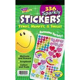 TREND enterprises Inc., Sparkly Stars, Hearts, & Smiles Sticker Book, Multi-Colored, Book of 336
