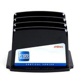 Storex, Modern Gloss Vertical Sorter, Black, 8 x 6 x 5 inches