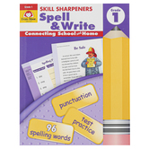 Evan-Moor, Skill Sharpeners Spell & Write Activity Book, Paperback, 144 Pages, Grade 1