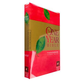NLT One Year Premium Slimline Bible, Large Print, Paperback