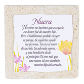 Product Concept Manufacturing, Nuera Spanish Tabletop Plaque, Natural Stone, 4 x 4 inches