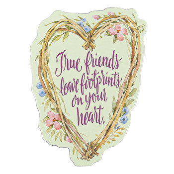 Product Concept Manufacturing, True Friends Heart Magnet, 3 1/2 x 2 1/2 inches