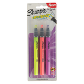 Sharpie, Clear View Chisel Tip Highlighters, 1 Each of 3 Fluorescent Colors