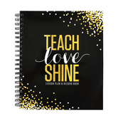 Glimmer of Gold Collection, Lesson Plan and Record Book, Spiral, Multi-Colored, 160 Pages