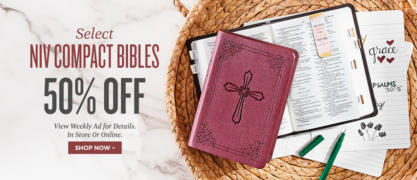 Select NIV Compact Bibles Always 50% OFF - Reg. $19.99
